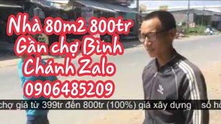 nhà gần chợ Bách Hóa Xanh Bình Chánh giá rẻ giá gốc LH anh Huy 0906485209