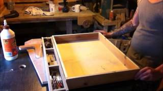 Making and adding a drawer to a table