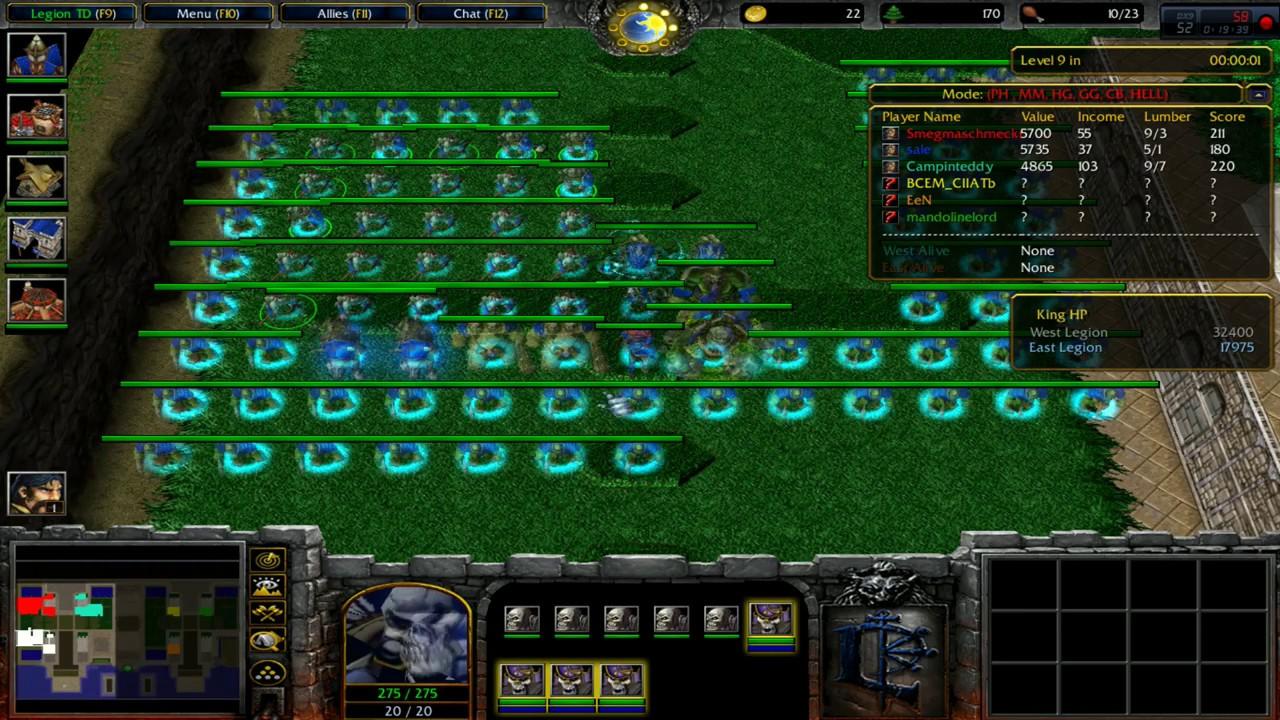 Legion TD HELL v3 98c ( Prophet Hybrid ) - Warcraft 3 - Battlenet