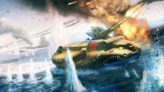 Скачать Soviet Navy CRUSHES ISLAND FORTRESS Enemy Retreats Red Alert 3 Gameplay Soviet Campaign
