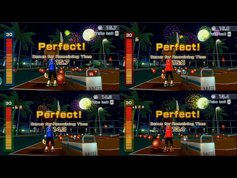 Wii Sports Resort: 3-Point 4 Players Perfect Game |