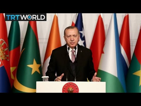 Turkish President Erdogan speaks at the conference of the Organisation of Islamic Cooperation