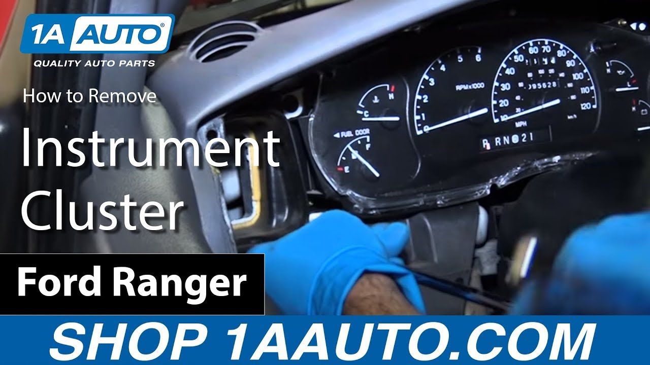 how to replace instrument cluster 93 03 ford ranger youtube panel wiring diagram for 2003 ford ranger gauges [ 1280 x 720 Pixel ]