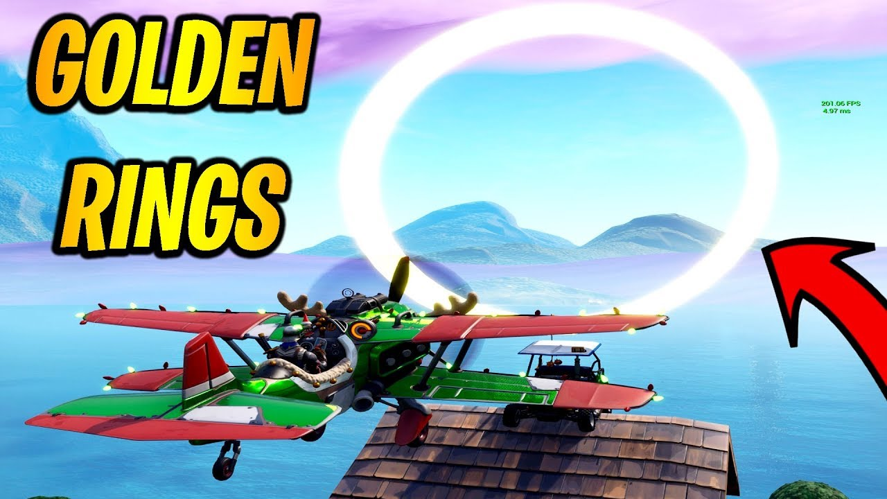 Fly Through Golden Rings In An X 4 Stormwing Plane 14 Days Of
