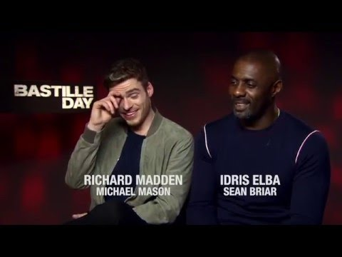 Idris Elba and Richard Madden talk Bastille Day: Weird  and US accents