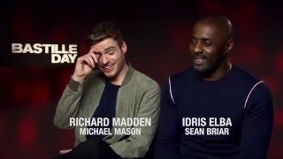 Idris Elba and Richard Madden talk Bastille Day: Weird fans and US accents