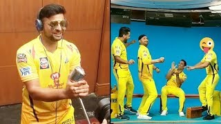 Chennai Super Kings 2019 I Inside Dressing Room | Vivo Ipl Funny videos