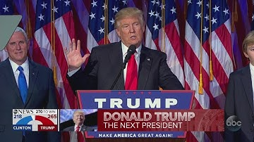 President-elect Donald Trump delivers speech after Secretary Hillary Clinton concedes 2016 election