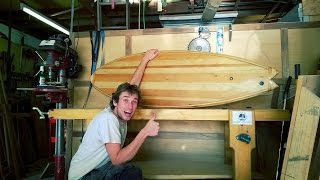 Building my first wooden Surfboard (Hollow core wooden surfboard)