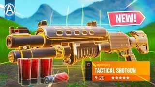 NEW LEGENDARY TACTICAL SHOTGUN Gameplay! // Use Code: byArteer (Fortnite Battle Royale LIVE Update)