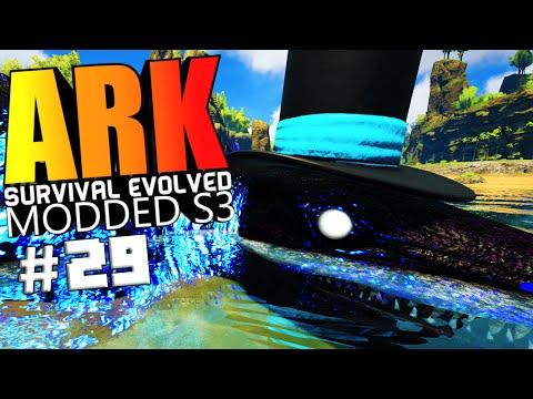 ARK Survival Evolved - WATER GOD, MORMAW WARDEN BOSS FIGHT, DMG TEST Modded #29 (ARK Mods Gameplay)