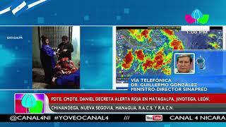 Gobierno declara alerta roja en 6 departamentos del país y en las regiones de la Costa Caribe