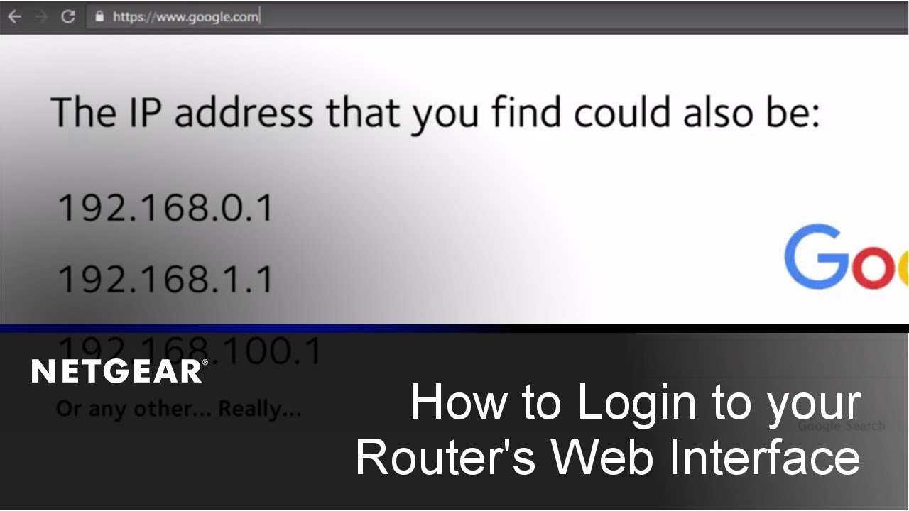 How do I log in to my NETGEAR wireless router? | Answer | NETGEAR