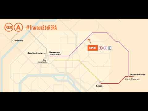 Trajet alternatif Travaux d'été 2017 du RER A