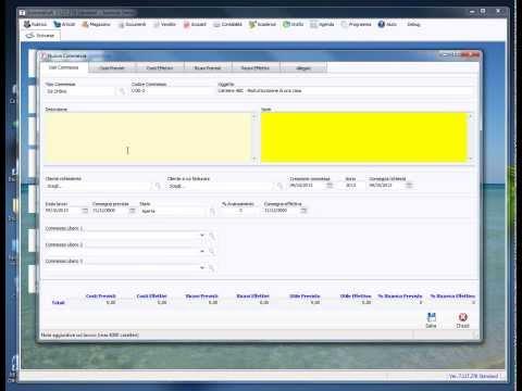 AziendaSoft 7 - Commessa per gestione di un cantiere (imprese edili, impiantisti in genere)