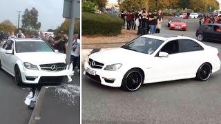 Angeber setzt Luxus-AMG an Straßenschild