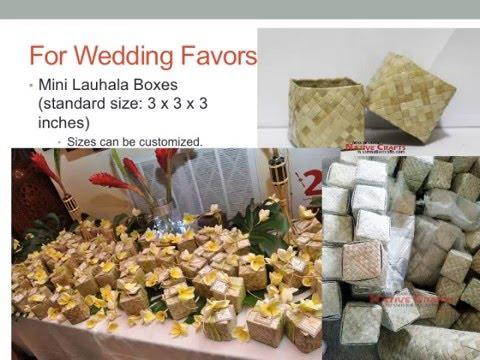 Unique Wedding Favors Ideas Mini Baskets Buri Fans Lauhala