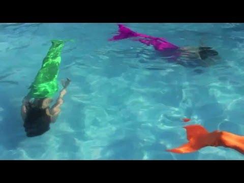 Cмотреть видео онлайн Хочу стать русалкой  Хочу плавать как русалка Хочу хвост как у русалки