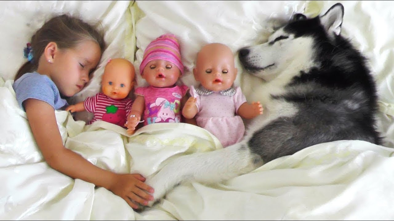 Baby Dolls Playing Youtube My Super Fun Day With Baby Dolls And Dog Sofia Pretend