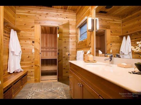 Домашняя сауна в ванной комнате