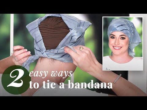 How To Tie A Bandana Around Your Head (2 Ways)