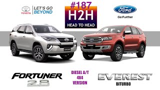 H2H #187 Toyota FORTUNER vs Ford EVEREST