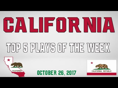 California - Top 5 Plays - Oct. 26