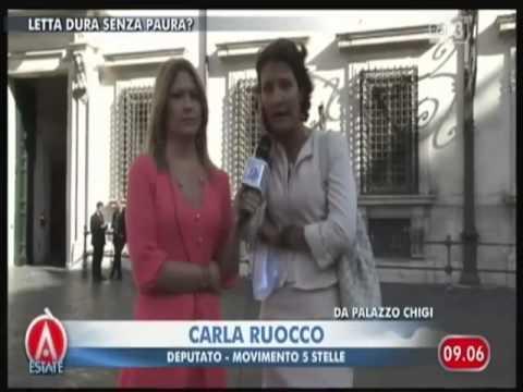 Carla Ruocco (#m5s) su Imu, Porcellum, pensioni d'oro e Letta bis ad Agorà Estate