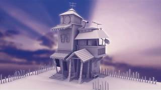 Stilisierte BG-Modellierung - Cartoon Haus - | 3D Maya