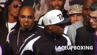 "FLOYD MAYWEATHER ""WE CAN DO IT AGAIN RIGHT NOW, PUT THE RING BAKC UP"" POST MAIDANA FIGHT"