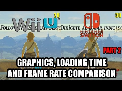 Zelda Breath of the Wild - Final Wii U Version vs Switch Frame Rate and Graphics Comparison PART 2