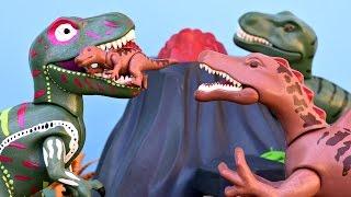 T Rex Hunting Spinosaurus Baby Dinosaur Triceratops Vulcano Eruption Lava Playmobil Dinosaurs Toys