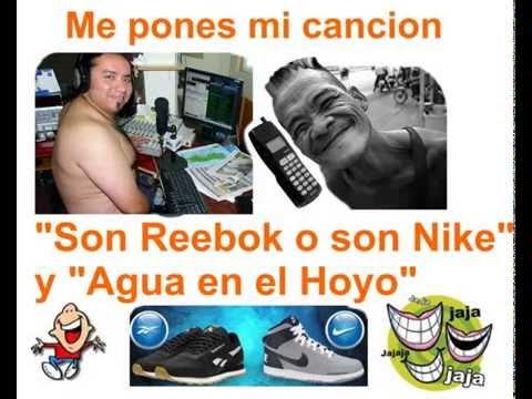 Esos son REEBOK o son NIKE y Agua en el Hoyo