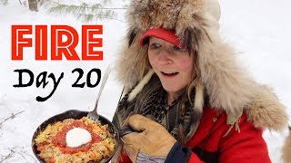 3 Meat Breakfast Skillet on a Campfire! | 28 Day Fire Challenge | Food & Fire