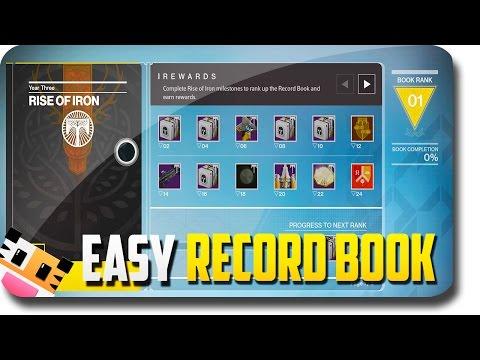 Destiny Rise of Iron - EASY Rise of Iron Record Book Progress (Destiny Rise of Iron Gameplay)