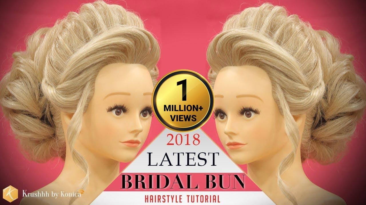 Bridal High Bun Hairstyle Tutorial Step By Step Stylish
