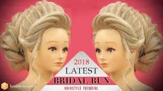 Bridal HIGH BUN Hairstyle Tutorial | Step by Step Stylish BUN Hairstyle | Krushhh by Konica