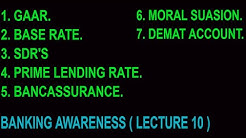 Banking Awareness | Important Banking Terminolgy | Lecture 10 | Bank Po