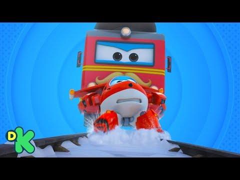 Jet salva um trem que saiu dos trilhos | Super Wings | Discovery Kids Brasil