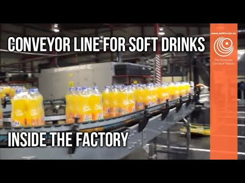 Soft Drinks Conveyor Line -  Designed and produced by Self Trust Romania