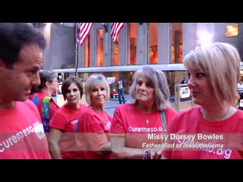 Video report from 2011 Mesothelioma Awareness Day rally at the Today Show in New York City.