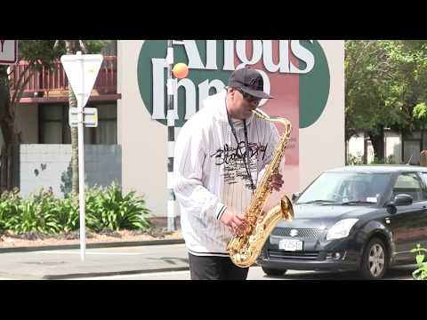 Amazing Saxophone Street Musician