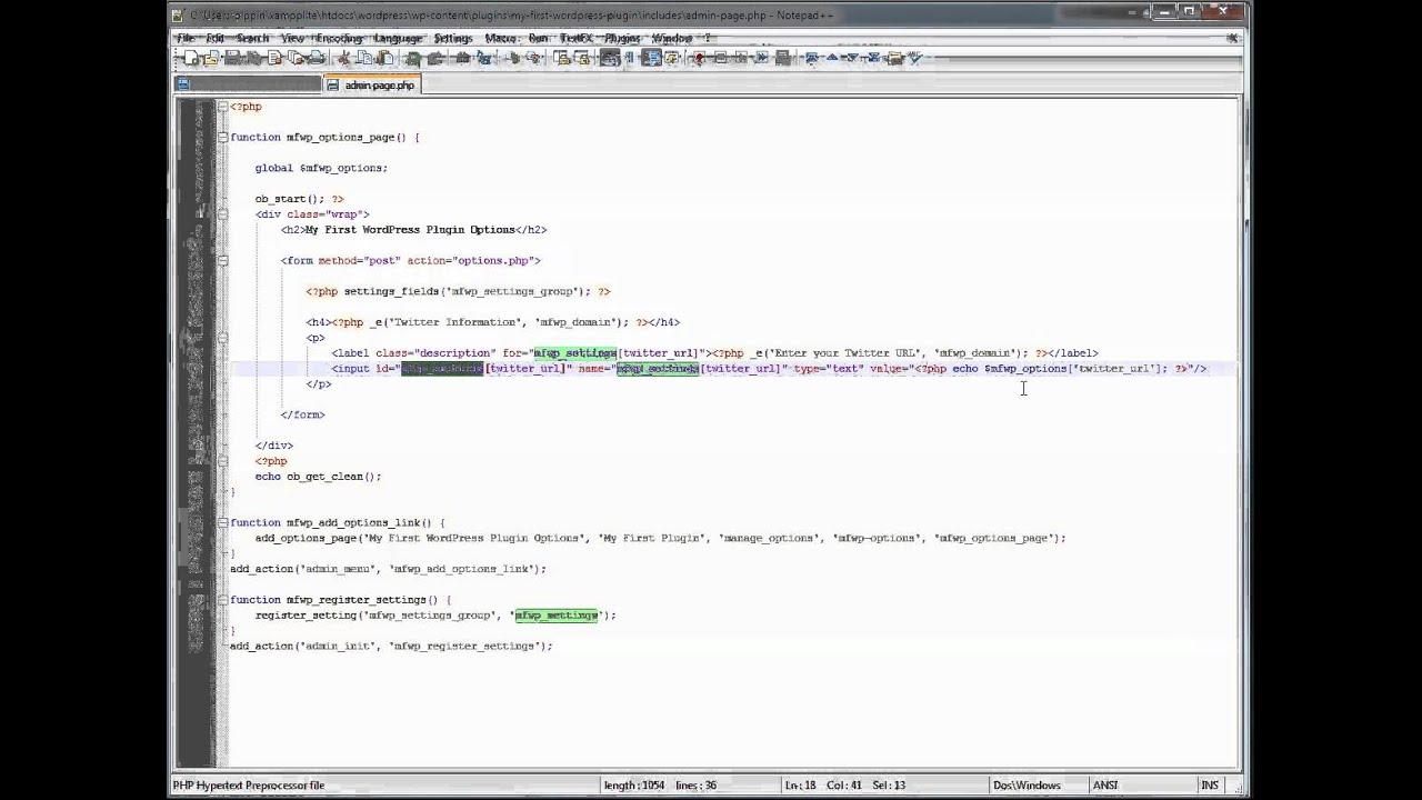 Writing Your First WordPress Plugin Part 6 - Pippins Plugins