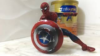 stopmotion captain america vs spiderman | captain america vs iron man | captain america vs hulk
