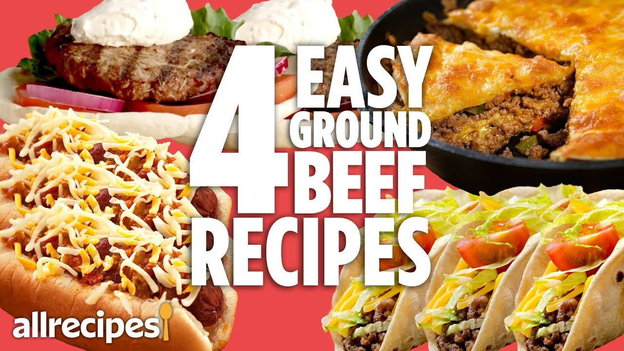 4 Easy Ground Beef Dinners | Recipe Compilations | Allrecipes.com