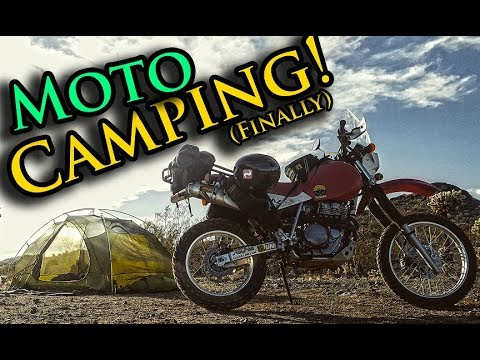 Solo Dual Sport Motorcycle Camping | Sonoran Desert