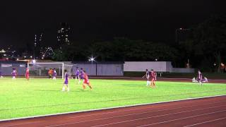Home United FC U/18 v Hougang U/18 in the 2013 S league Centre of E...