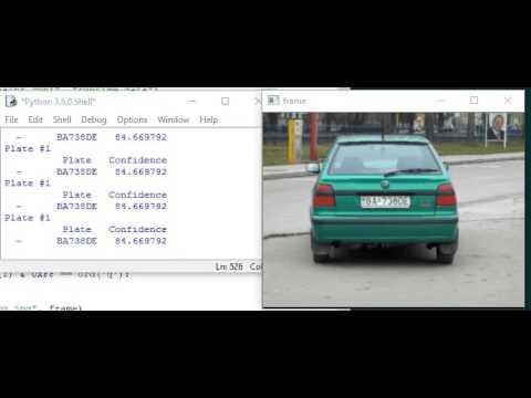 OpenALPR Python demo using a video stream