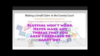 Making a Small Claim in the County Court - Part 1 - opening an account with MoneyClaim