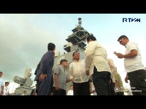 President Duterte visits Japanese escort Flotilla in Alava Pier, Subic